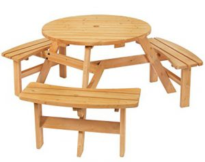 Best Choice Products Wood Round Picnic Table: Best Wood Picnic Tables