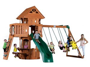Backyard Discovery Play Set: Best Small Swing Sets For Small Backyards 2019