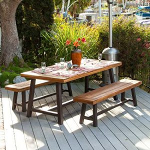 Bowman Wood Picnic Table Outdoor Dining Set: Best Wood Picnic Tables