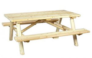 Cedarlooks Log Picnic Table: Best Wood Picnic Tables
