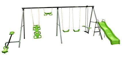 "Flexible Flyer ""World Of Fun"" Swing Set: Best Swing Sets For Small Backyards"