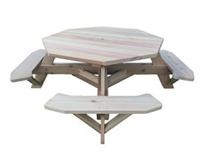 Red Cedar Octagonal Picnic Table: Best Wood Picnic Tables