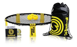Spikeball is one of the best outdoor games for adults