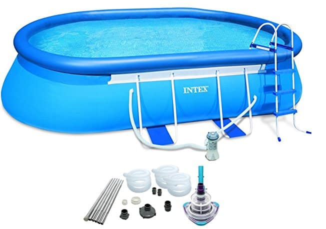intex oval above ground pool best backyard gear. Black Bedroom Furniture Sets. Home Design Ideas