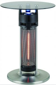 Best Patio Heaters 2018: Ener-G+ Freestanding Outdoor Electric Patio Heater with LED Light and Infrared Heated Table