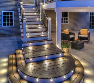 Outdoor Patio Lighting Ideas: deck and railing lights