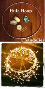 Hoola-Hoop Chandelier, Outdoor Patio Lighting Ideas