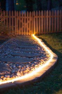 Rope Light Walkway: Outdoor Patio Lighting Ideas