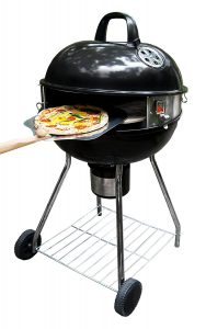 "Best Outdoor Pizza Ovens Reviews: PizzaQue Deluxe Kettle Grill Pizza Kit for 18"" and 22.5"" Kettle Grills PC7001"