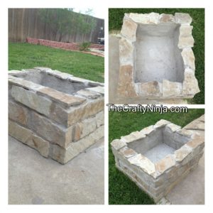 Cement Fire Pit Backyard