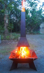 DIY Metal Welded Upright Fire Pit