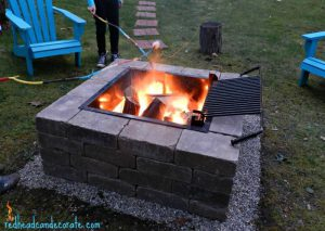 Backyard Fire Pit Ideas: Square Fire Pit With Grill