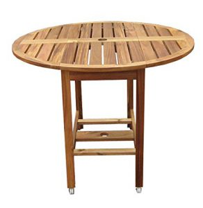 Best Round Picnic Tables: Acacia Wood Folding Table