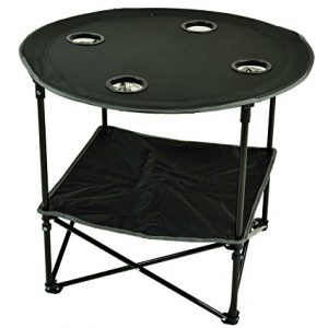 Best Round Picnic Tables: Black Travel Folding Table