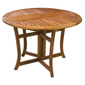 "Best Round Picnic Tables: Eucalyptus 43"" Round Table"