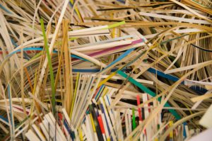 compost shredded paper
