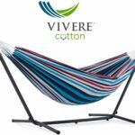 blue two person hammock, free standing
