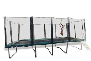 Best Trampolines For Gymnastics: Happy Trampoline - Galactic Xtreme Gymnastic Rectangle Trampoline with Net Enclosure