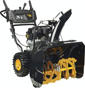 Best Snow Blowers for Gravel Driveways: Poulan PRO PR271 - 27-Inch 254cc Two Stage Electric Start with Power Steering Snowthrower - 961920091