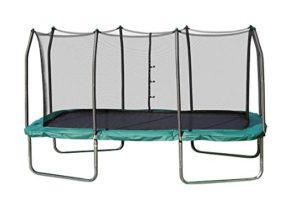 Best Trampoline For Gymnastics: Skywalker Trampolines Rectangle Trampoline with Enclosure Net – Shape Provides Great Bounce – Gymnast Trampoline