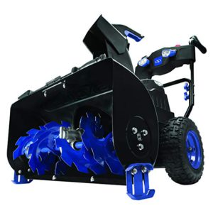 Best Snow Blowers For Gravel Driveways 2018: Snow Joe ION8024-CT 24-Inch Cordless Two Stage Snow Blower 80 Volt + 4-Speed + Headlights
