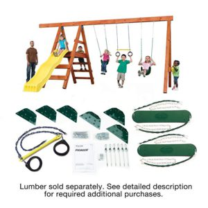 Best Small Swing Sets: Pioneer Swing Set Kit by Swing-N-Slide
