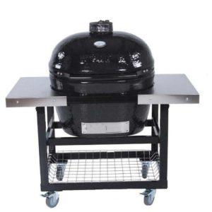 Best Kamado Grills 2019: Primo Ceramic Charcoal Smoker Grill On Cart With Side Tables - Oval Xl