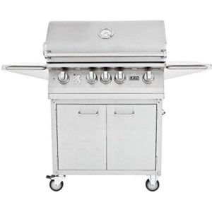 Best 4 Burner Propane Grills 2019: Lion 32 Inch Stainless Steel Propane Gas Grill On Cart