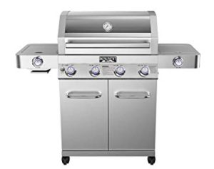 Best 4 Burner Propane Grills 2020: Monument Grills Clearview Lid 4 Burner with Side Sear Burner Propane Gas Grill