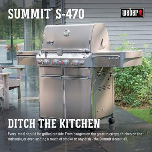 Best 4 Burner Propane Grills 2019: Weber Summit S-470 LP Gas Grill, 7170001