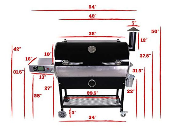 Measurements of the Rec Tec RT700 Pellet Grill