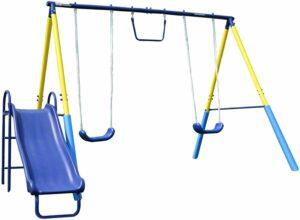 Sportspower My First Metal Swing Set with Slide