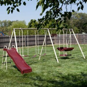 flexible flyer metal swing set